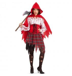 Costume da Cappuccetto Rosso insanguinato per donna
