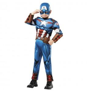 Costume da Capitan America Deluxe per bambino