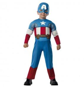 Travestimento Capitan America Marvel neonato che più li piace