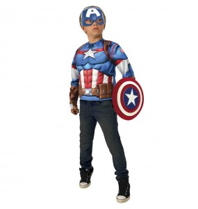 Costume da Capitan America petto muscoloso per bambino