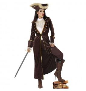 Costume da Capitano pirata marrone per donna