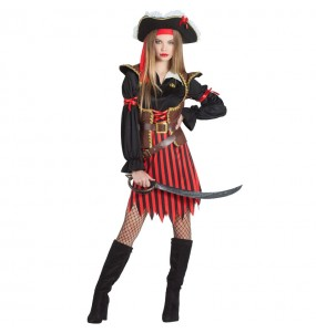 Travestimento Capitano Pirata donna per divertirsi e fare festa