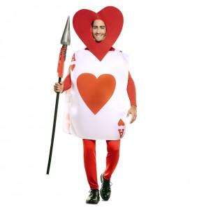 Costume da Carta Asso di Cuori per uomo
