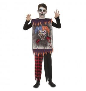 Travestimento Carta da gioco clown terrificante bambini per una festa ad Halloween