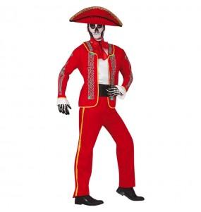 Costume da Catrin rosso messicano per uomo
