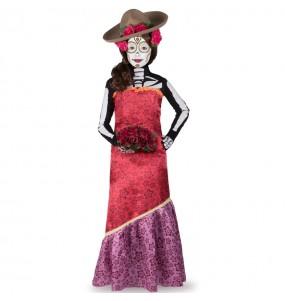 Vestito Catrina Casandra bambine per una festa ad Halloween