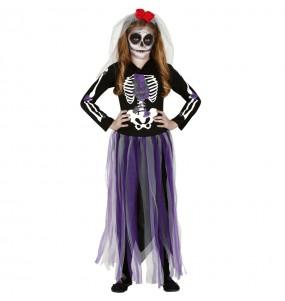 Vestito Catrina Messicana Il Giorno dei Morti bambine per una festa ad Halloween