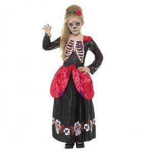 Costume da Catrina scheletro per bambina