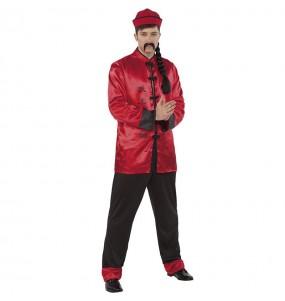 Costume da Cinese rosso per uomo