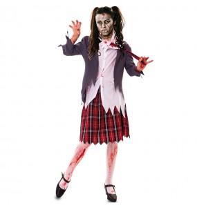 Costume Studentessa Zombie Sanguinante donna per una serata ad Halloween
