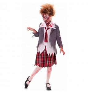 Vestito Studentessa Zombie Sanguinante bambine per una festa ad Halloween