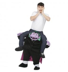 Travestimento adulto Count von Count Sesame Street a cavallucio per una serata in maschera