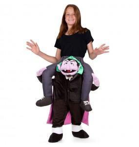 Travestimento Count von Count Sesame Street bambino a cavallucio che più li piace
