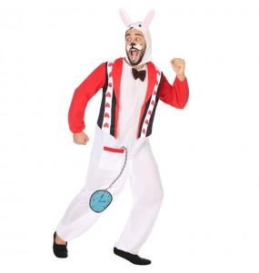 Travestimento Coniglio Bianco Alice adulti per una serata in maschera