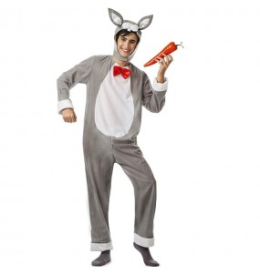 Costume da Coniglio grigio per uomo