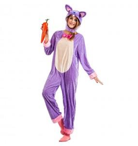 Costume da Coniglio viola per donna