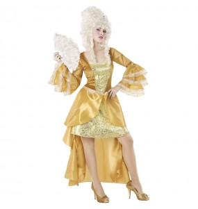 Travestimento Cortigiana Epoca oro donna per divertirsi e fare festa
