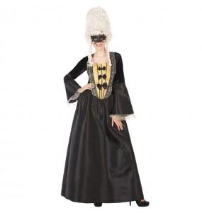 Travestimento Cortigiana Epoca nera donna per divertirsi e fare festa
