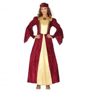 Travestimento Dama Medievale Elegante donna per divertirsi e fare festa