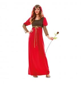Travestimento Giulietta donna per divertirsi e fare festa del Medievo