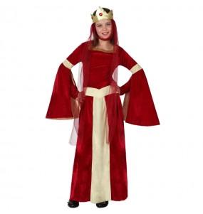 Travestimento Donna medievale rossa bambina che più li piace