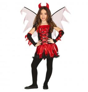 Costume da Diavolessa con ali per bambina