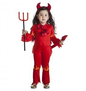 Costume da Demone fiamme per bambina