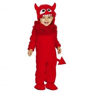 Costume da Demone con coda per neonato