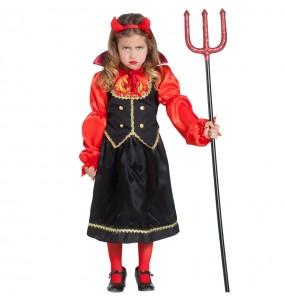 Vestito Diavolessa Inferno bambine per una festa ad Halloween