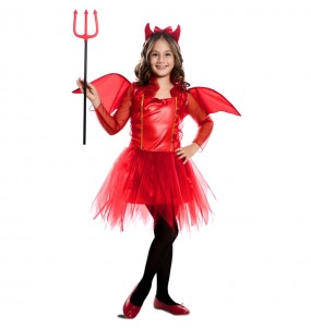 Costume da Diavoletta rossa con ali per bambina