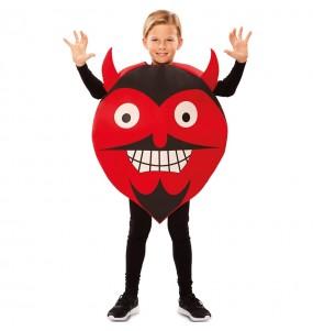 Travestimento Diavolo Emoticon bambini per una festa ad Halloween