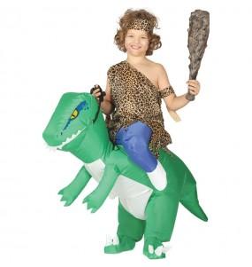 Travestimento Dinosauro Verde Gonfiabile bambino a cavallucio che più li piace