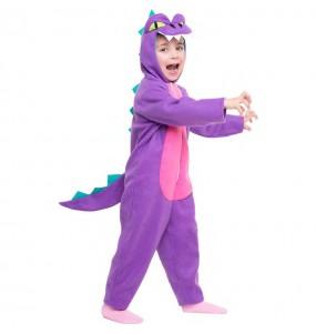 Travestimento Dinosauro Viola bambina che più li piace
