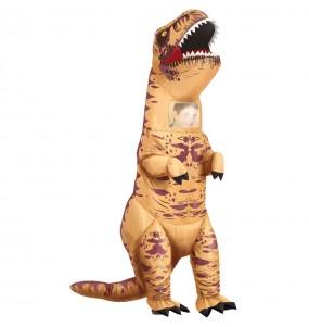 Travestimento Tirannosauro T-Rex gonfiabile adulti per una serata in maschera
