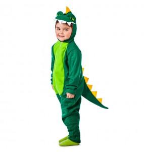 Travestimento Dinosauro Verde bambino che più li piace
