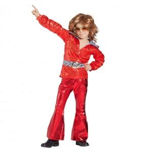 Costume da Disco rosso per bambino