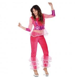 Travestimento Discoteca rosa donna per divertirsi e fare festa