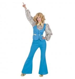 Travestimento Discoteca Blu donna per divertirsi e fare festa