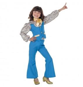 Travestimento Discoteca Blu bambina che più li piace