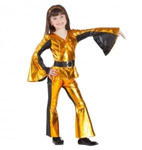 Travestimento Ballerina Disco Dorato bambina che più li piace