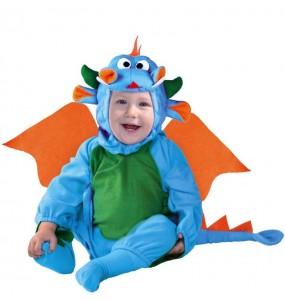 Costume da Drago blu per neonato