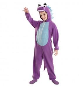 Costume da Drago viola per bambina