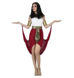 Costume da Egiziana Cappotto rosso per donna