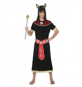 Travestimento Egipziano Nero Anubis adulti per una serata in maschera
