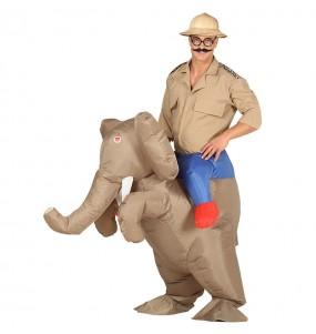 Travestimento adulto Elefante Gonfiabile a cavallucio per una serata in maschera