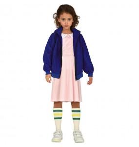 Vestito Eleven Stranger Things bambine per una festa ad Halloween