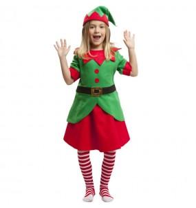 Costume da Elfa assistente Babbo Natale per bambina