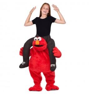 Travestimento Elmo Sesame Street bambino a cavallucio che più li piace