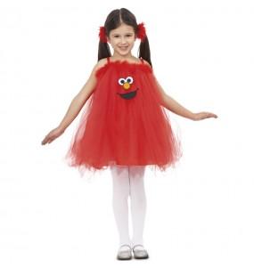 Travestimento Elmo con tutù bambina che più li piace
