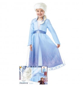 Costume da Elsa Frozen con parrucca per bambina